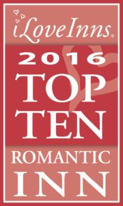 Maple Hill Manor awarded Top 10 Most Romantic Inns in the U.S.