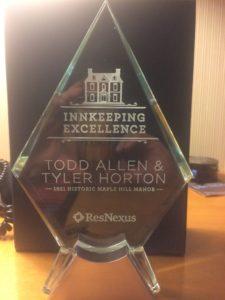 innkeeping excellence award